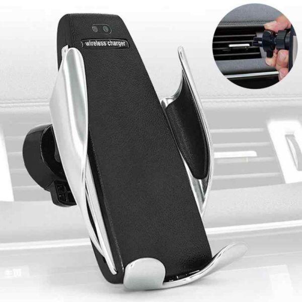 Incarcator auto FAST CHARGE wireless cu sistem de prindere cu se