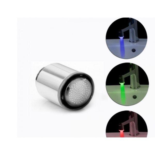 Cap de robinet cu led-uri colorate si filtru de apa
