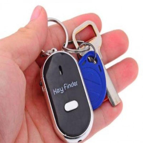 Breloc cu fluier si led  pentru gasirea cheilor - whistle key fi
