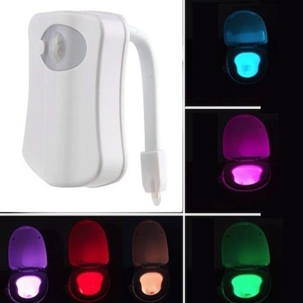 Lampa de veghe pentru toaleta cu LED, senzor de miscare si lumin