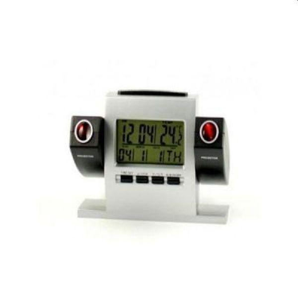 Ceas electronic de birou, proiectie pe perete, alarma, afisaj te