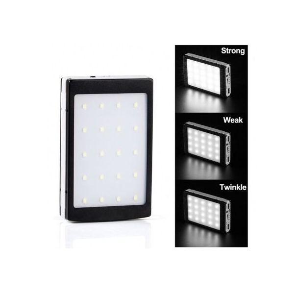 Baterie solara Power Bank 20.000 mah, pentru 2 dispozitive