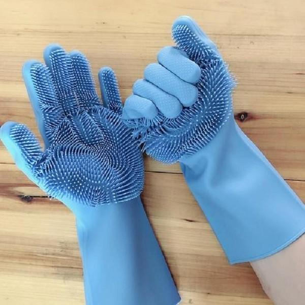 Manusi de bucatarie cu peri flexibili din silicon, pentru spalat