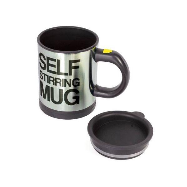 Cana inteligenta Self Stirring Mug, rosie, neagra sau albastra