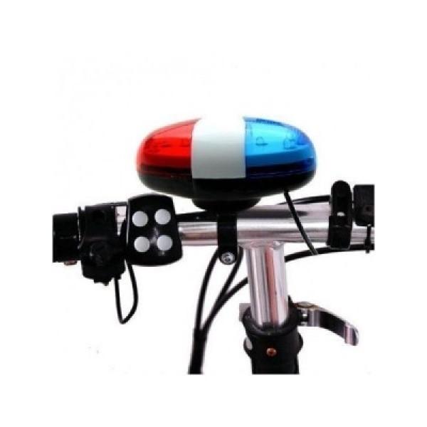 Claxon bicicleta cu sunet sirena politie si girofar