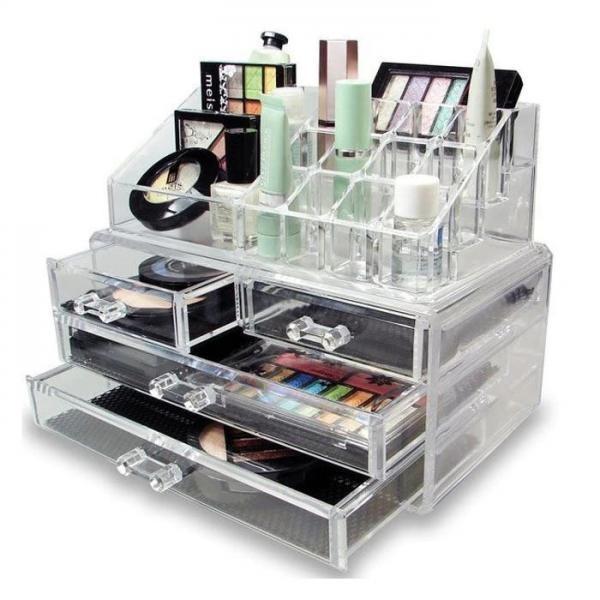 Organizator pentru cosmetice, cu sertare, incapator