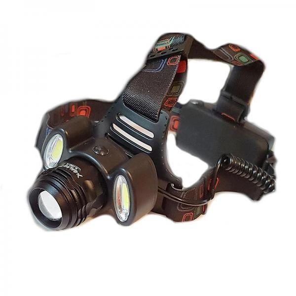 Lanterna frontala cu zoom si 4 faze de lumina