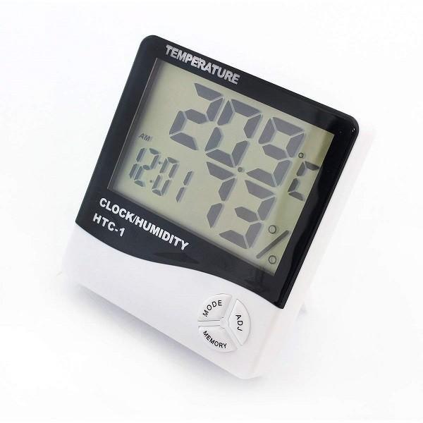 Ceas electronic de birou, cu ecran LCD ce indica temperatura