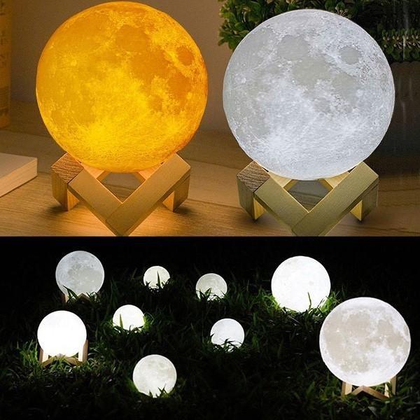 Lampa de veghe pentru copii 3D, 8cm, cu suport lemn