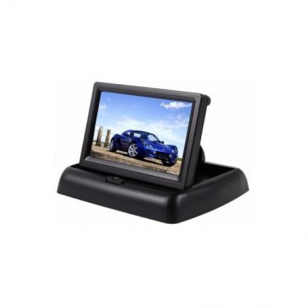 Monitor auto de 4.3 inch rabatabil, pentru camera marsarier