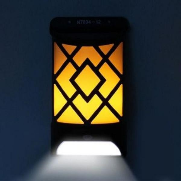 Lampa de gradina, solara, cu senzor de miscare, efect deosebit de flacara