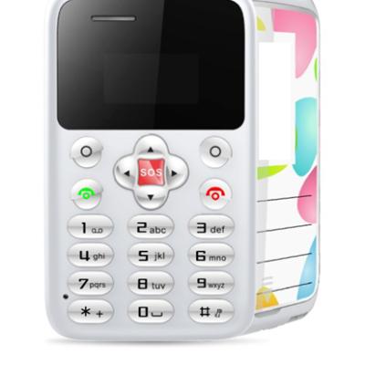 Telefon ultra subtire - 6mm, card AEKU M9, Bluetooth, 0.96-inch, alb