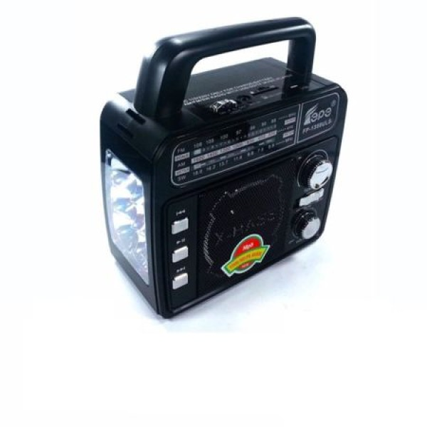 Radio AM/FM cu lanterna si incarcare solara, mp3 si stick USB
