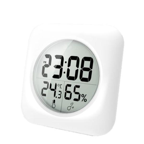 Ceas de baie, rezistent la apa, cu indicator de temperatura si umiditate
