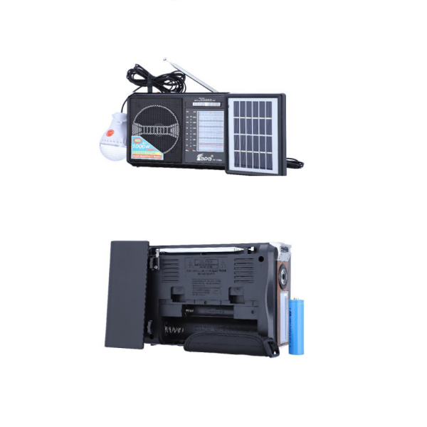 Radio AM/FM/ reda muzica prin stick, card, incarcare solara