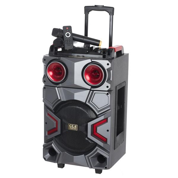 RESIGILAT - Boxa Activa Portabila Troller 12inch, Soundvox MT-1703, cu 2 x Microfoane, 120 W, Bluetooth, Display, Fm, Us