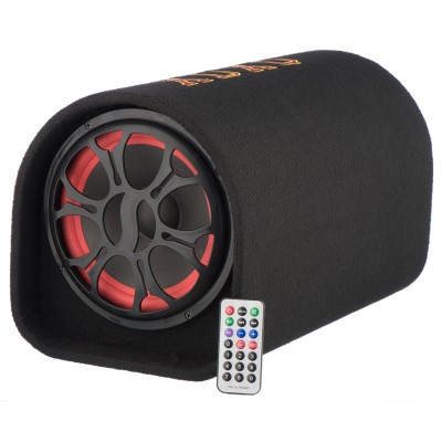 Subwoofer Soundvox  de 8 , Max. 1000W PMPO, Bluetooth, USB, TF Card, Telecomanda, Negru