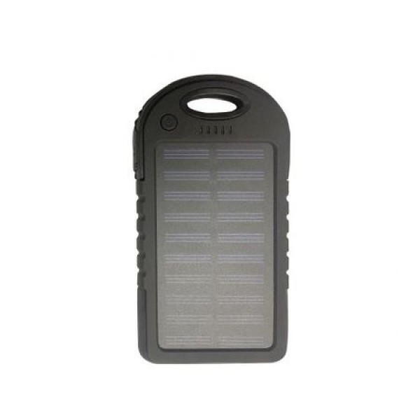 Pachet promotional 3 produse Baterie externa solara Soundvox, 5000 mAh, shockproof, Negru, Suport universal telefon, pen