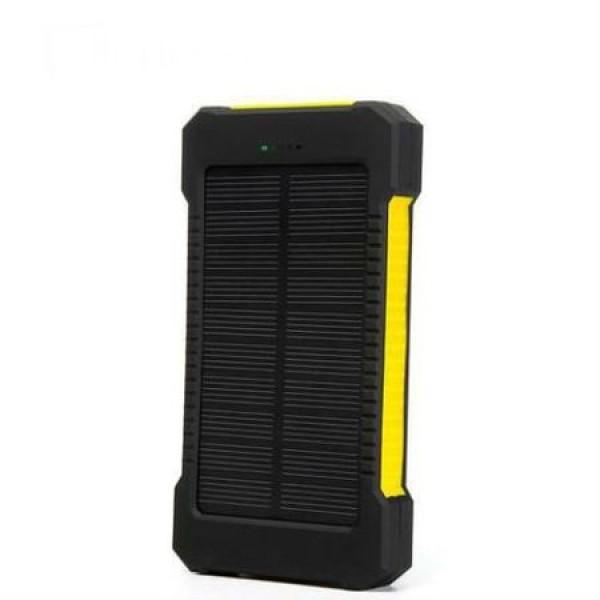 Pachet promotional 3 produse, Acumulator Extern 10000 mAh, cu Incarcare Solara, 2 USB, Lanterna LED cu Mod SOS, Negru-Ga