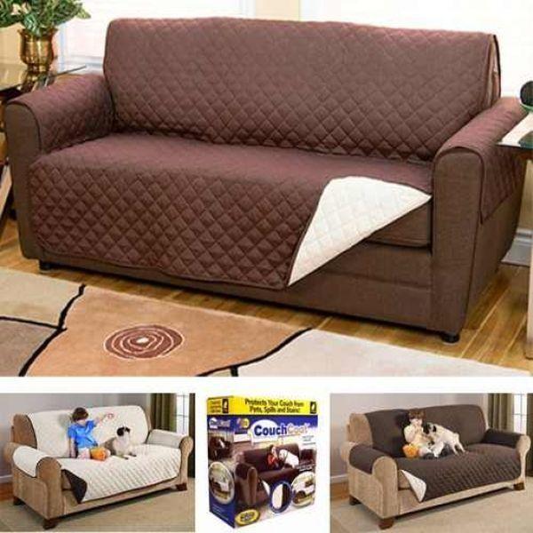 Cuvertura cu fata dubla, impermeabila, pentru canapea 3 locuri