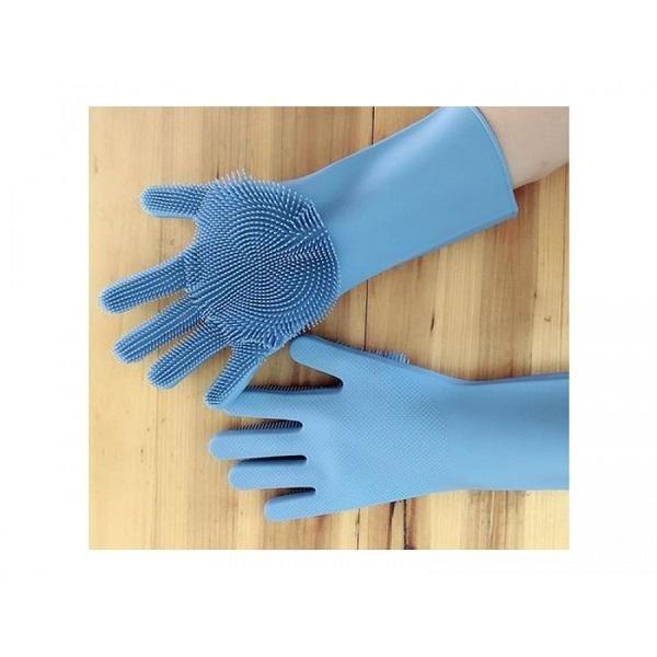 Manusi de bucatarie pentru spalat vase, cu peri flexibili din silicon
