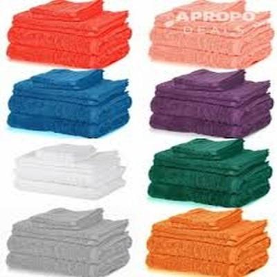 Set 6 prosoape 100% bumbac Pakistanez, diverse culori si marimi
