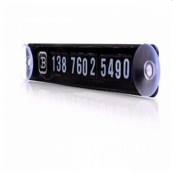 Placuta magnetica pentru numar de telefon pe parbriz