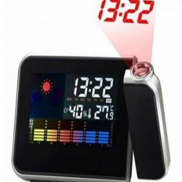 Ceas digital cu termometru, indicator umiditate si proiectie ora