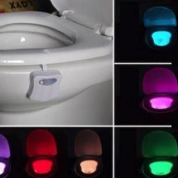 Lampa cu LED, waterproof, cu senzor de miscare si 8 culori diferite