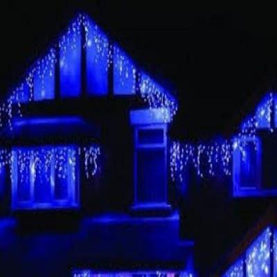 Instalatie LED multicolora cu franjuri, interior/exterior, 8m lungime
