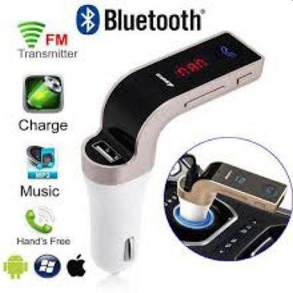 Modulator FM carkit G7, cu mufa USB si kit Bluetooth