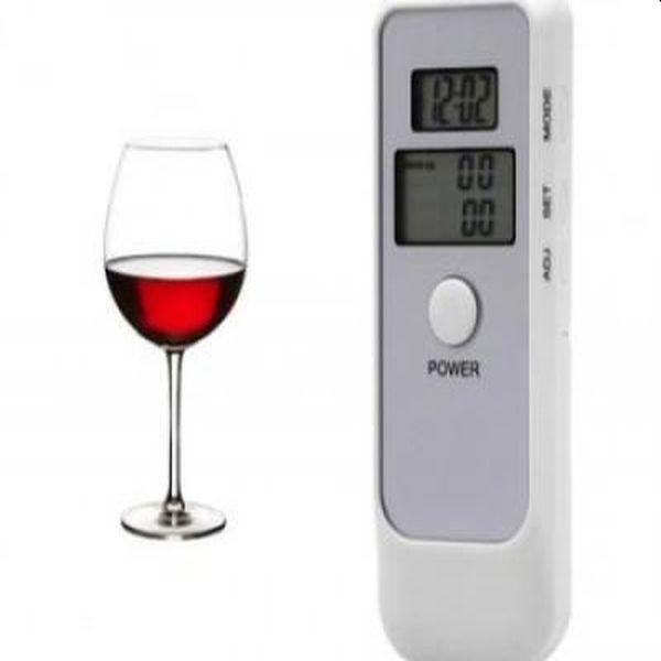 Tester alcoolemie digital, avertizare sonora, ceas si alarma